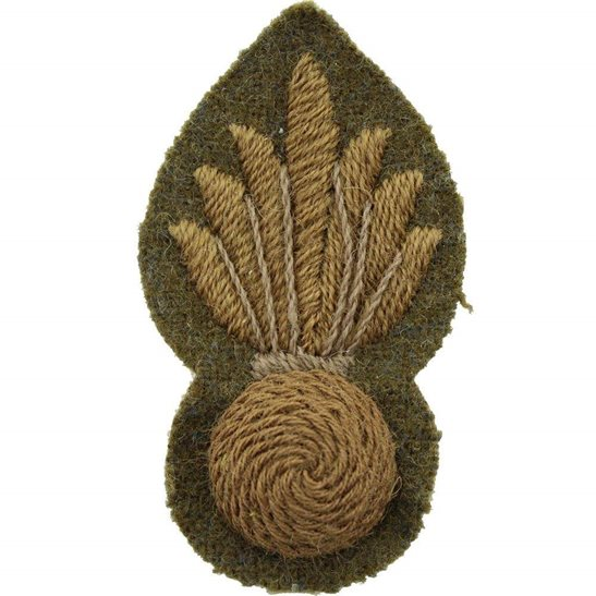 Trade Badge Pioneer Rank, Grenadier Guards Regiment Cloth Proficiency Arm / Sleeve Trade Badge