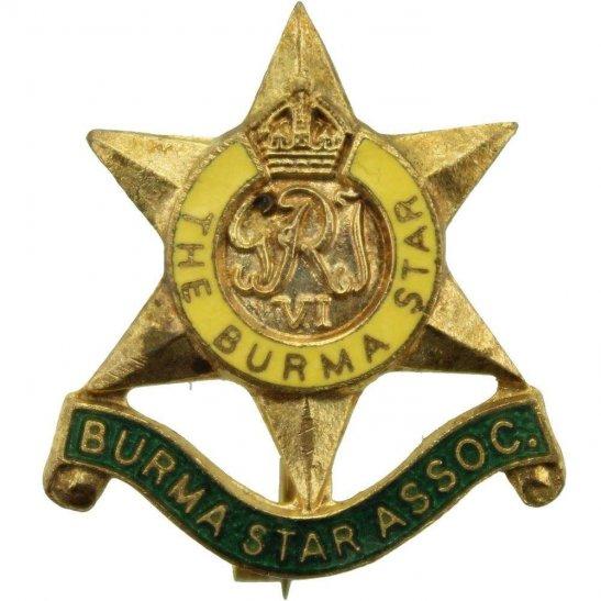 WW2 The Burma Star Association Members Lapel Badge