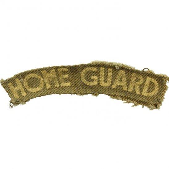 Home Guard WW2 Home Guard Unit PRINTED Cloth Shoulder Title Badge Flash