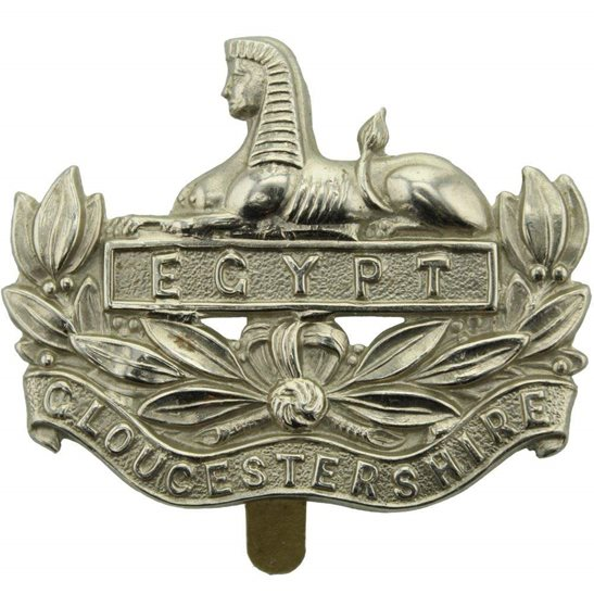 Gloucestershire Regiment Gloucestershire Regiment Cap Badge - J.R. GAUNT LONDON Makers Mark