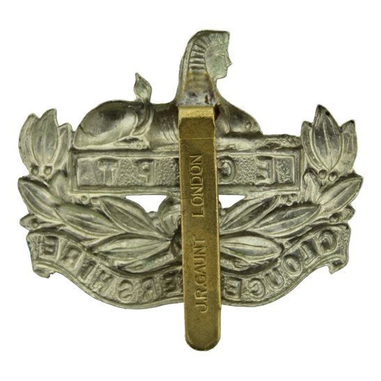 additional image for Gloucestershire Regiment Cap Badge - J.R. GAUNT LONDON Makers Mark