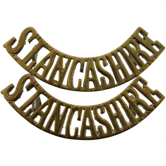 South Lancashire South Lancashire Regiment Shoulder Title PAIR