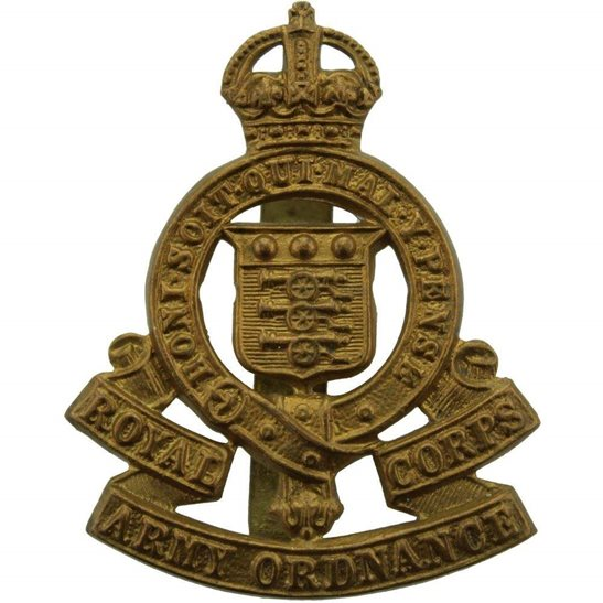 Royal Army Ordnance Corps RAOC WW2 Royal Army Ordnance Corps RAOC Cap Badge