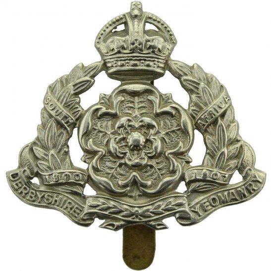 Derbyshire Yeomanry WW1 Derbyshire Yeomanry Regiment Cap Badge