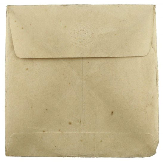 WW1 Penny / Death Plaque Paper Envelope Cover