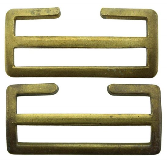 WW1 British Army 1908 Brass Webbing Uniform Belt Buckles Pair