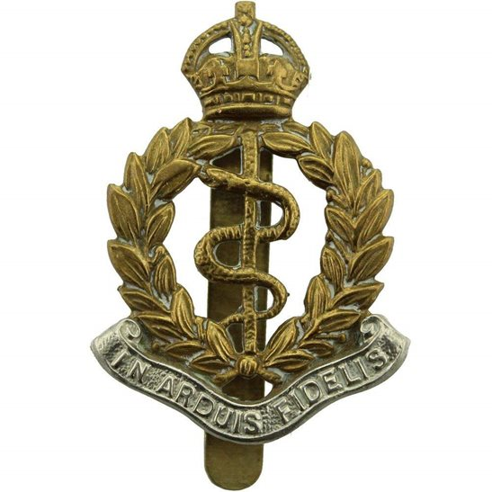 Royal Army Medical Corps RAMC WW2 Royal Army Medical Corps RAMC BI-METAL Cap Badge