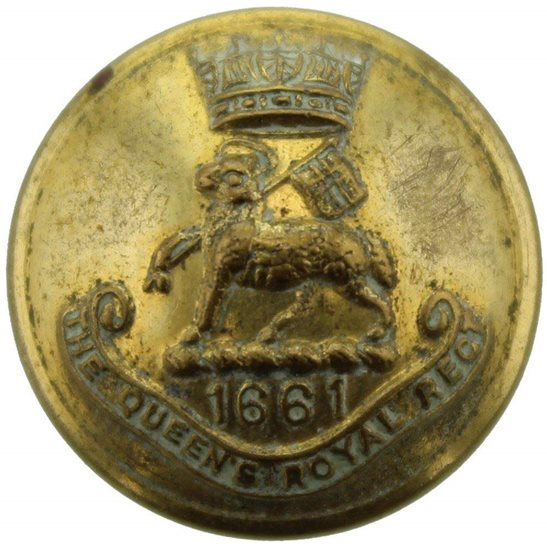 West Surrey Queens Own Royal West Surrey Regiment (Queen's) SMALL Tunic Button - 20mm