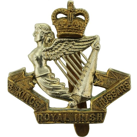 8th Hussars 8th Kings Royal Irish Hussars Regiment (King's) Cap Badge - Queens Crown