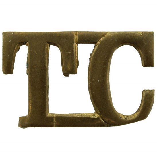 Royal Tank Corps WW1 Tank Corps TC Shoulder Title - EARLY PATTERN