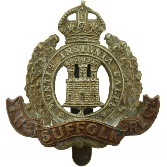Suffolk Regiment WW1 Suffolk Regiment Cap Badge