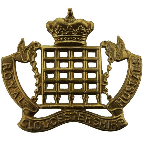 Royal Gloucestershire Hussars WW1 Royal Gloucestershire Hussars Imperial Yeomanry Regiment Cap Badge
