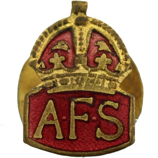 Auxiliary Fire Service WW2 Auxiliary Fire Service AFS SMALL Lapel Badge