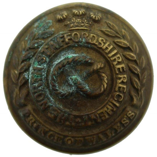 North Staffordshire North Staffordshire Regiment Stafford Tunic Button - 26mm