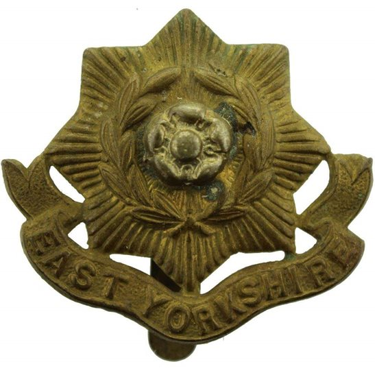East Yorkshire WW2 East Yorkshire Regiment Cap Badge