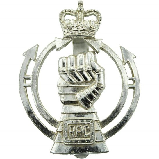 Royal Armoured Corps Royal Armoured Corps Staybrite Anodised Cap Badge - Staybright