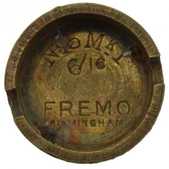 WW1 No 5 Mills Bomb Grenade Base Plug FREMO BIRMINGHAM - Somme Battlefield Find