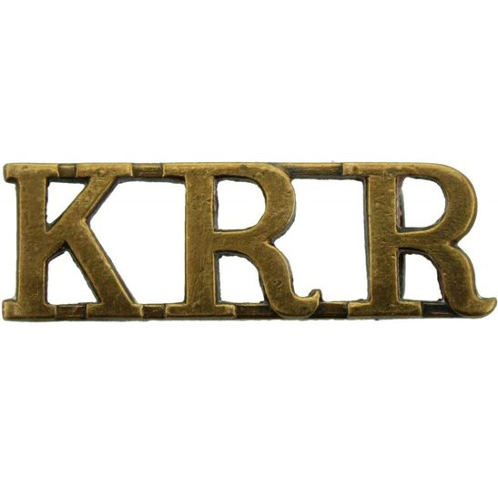 Kings Royal Rifle Corps KRRC Kings Royal Rifle Corps KRR (King's) Regiment Shoulder Title