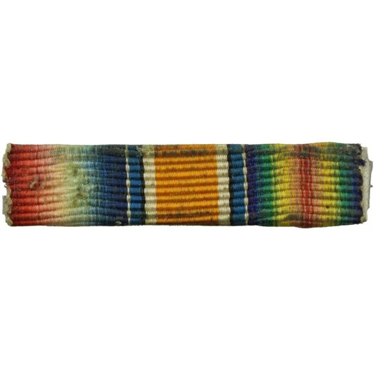 MINIATURE WW1 Trio (1914/15 Star, British War & Victory Medal) Ribbon Bar - PIN BACK