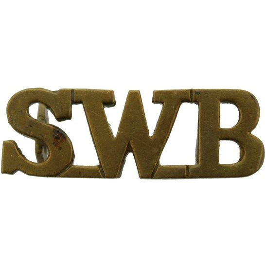 South Wales Borderers South Wales Borderers Regiment SWB Shoulder Title