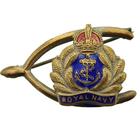 Royal Navy WW1 British Royal Navy Sweetheart Brooch