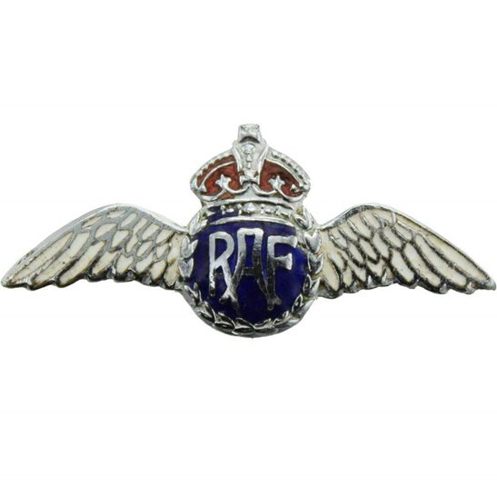 Royal Air Force RAF WW2 Royal Air Force RAF Wings Sweetheart Brooch - 31mm