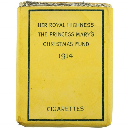 Princess Mary 1914 Christmas Tin Contents - Complete Cigarette Packet