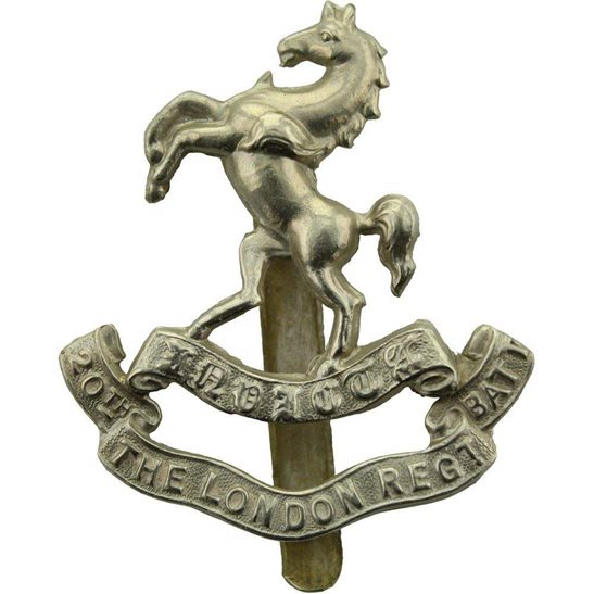 London Battalions WW1 20th (Blackheath and Woolwich) Battalion County of London Regiment Cap Badge
