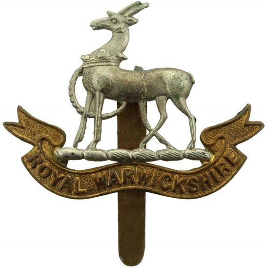 Royal Warwickshire WW2 Royal Warwickshire Regiment Cap Badge