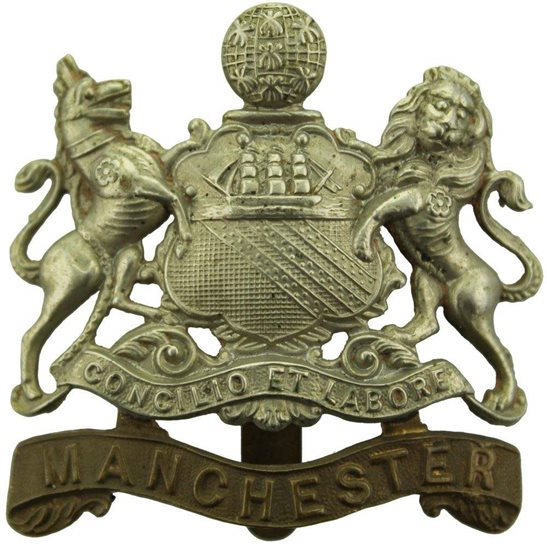 Manchester Regiment WW1 Manchester Regiment Cap Badge - FIRST PATTERN