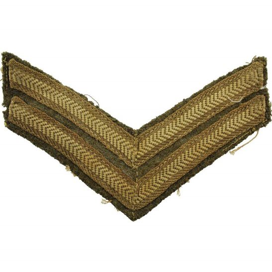 WW1 British Army Corporals Cloth Chevron Insignia Rank Stripes