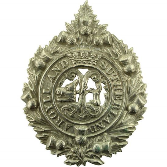 Argyll and Sutherland Highlanders WW2 Argyll and Sutherland Highlanders Regiment Cap Badge