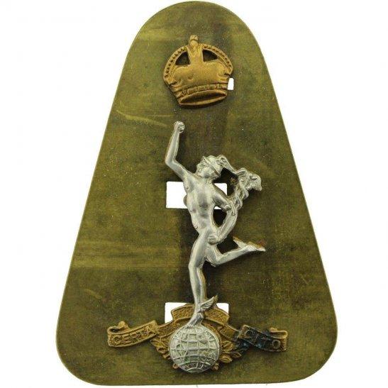 Royal Corps of Signals RCOS WW2 Royal Corps of Signals RCOS Cap Badge - DUAL CONSTRUCTION