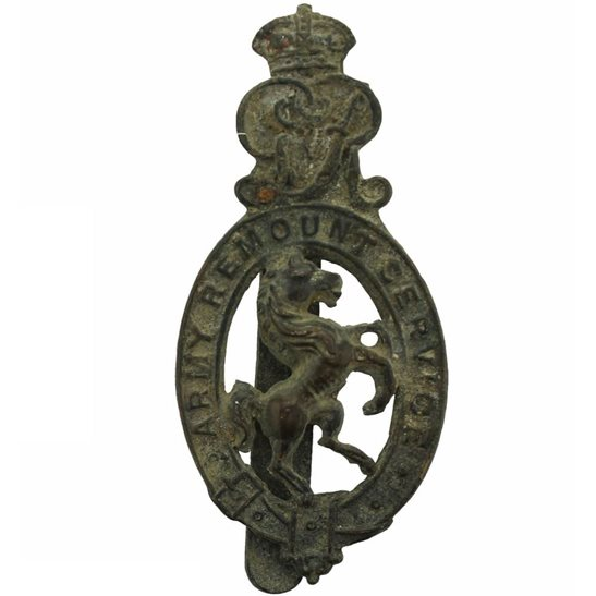 Army Remount Service UK Dug Detecting Find - WW1 Army Remount Service Corps Relic Cap Badge