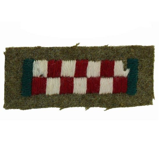 Argyll and Sutherland Highlanders WW2 Argyll and Sutherland Highlanders Cloth Formation Sign Sleeve Tab Patch Badge
