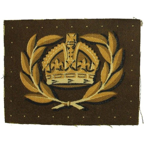WW2 Warrant Officer Class 2 PRINTED Cloth Arm / Sleeve Insignia Badge