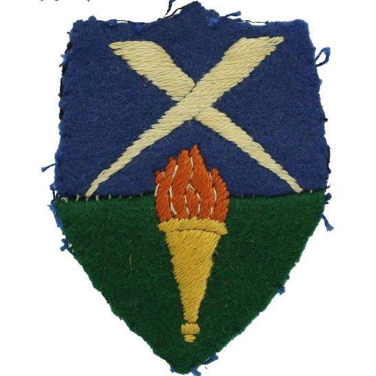 WW2 Aldershot District, Southern Command Cloth Formation Sign Patch Badge