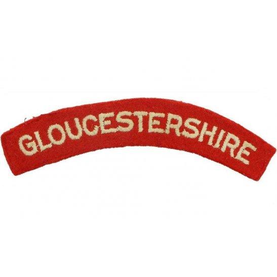 Gloucestershire Regiment 1950s National Service Gloucestershire Regiment Cloth Shoulder Title Badge Flash