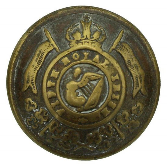 5th Royal Irish Lancers WW1 5th Royal Irish Lancers Regiment Tunic Button - 23mm