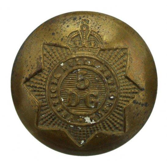 5th Dragoon Guards WW1 5th Royal Inniskilling Dragoon Guards Regiment Tunic Button - 26mm