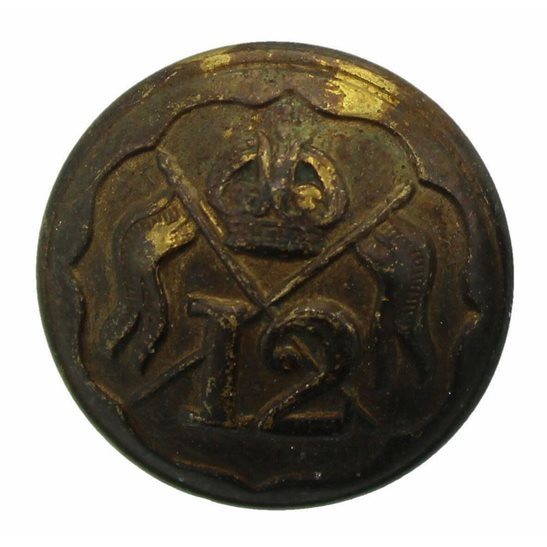 12th Lancers WW1 12th Royal Lancers Regiment Tunic Button - 19mm