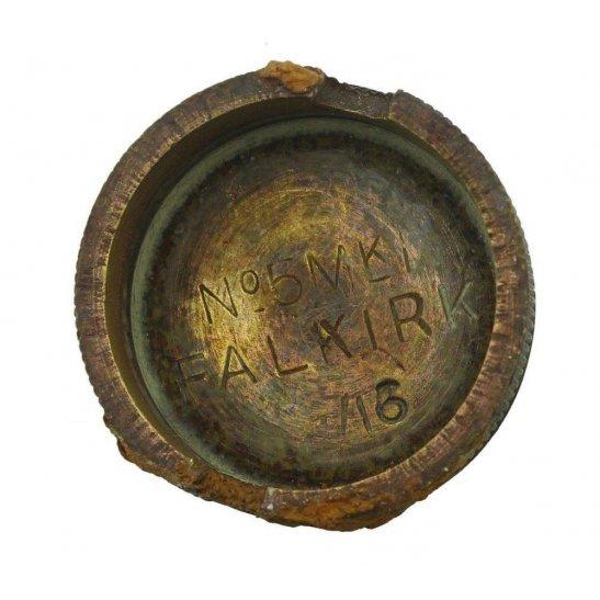 WW1 No 5 Mills Bomb Grenade Base Plug Mk 1 FALKIRK 16 - Somme Battlefield Find