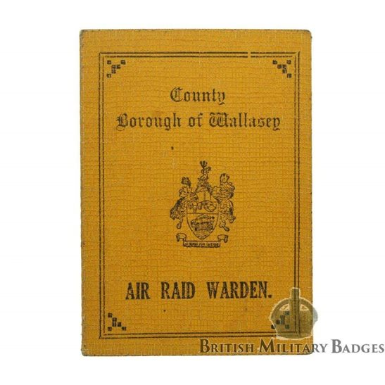 additional image for WW2 Air Raid Precautions ARP Warden's ID Card Document 1941 - WALLASEY (Liverpool)