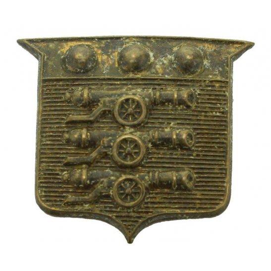 Army Ordnance Corps AOC WW1 Army Ordnance Corps AOC Collar Badge