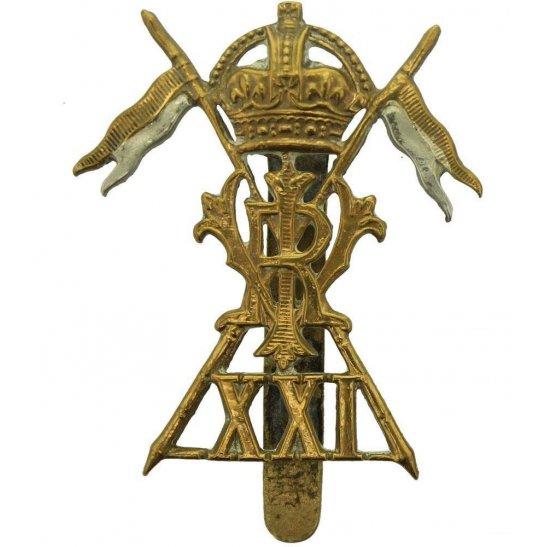 21st Lancers WW1 21st Lancers (Empress of India's)  Regiment Cap Badge