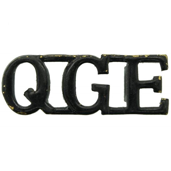 Gurkha Engineers WW2 Queens Gurkha Engineers Corps QGE (Queen's) Shoulder Title