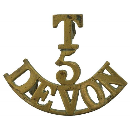 Devonshire Regiment WW1 5th Territorial Battalion Devonshire Regiment (Devon) Shoulder Title