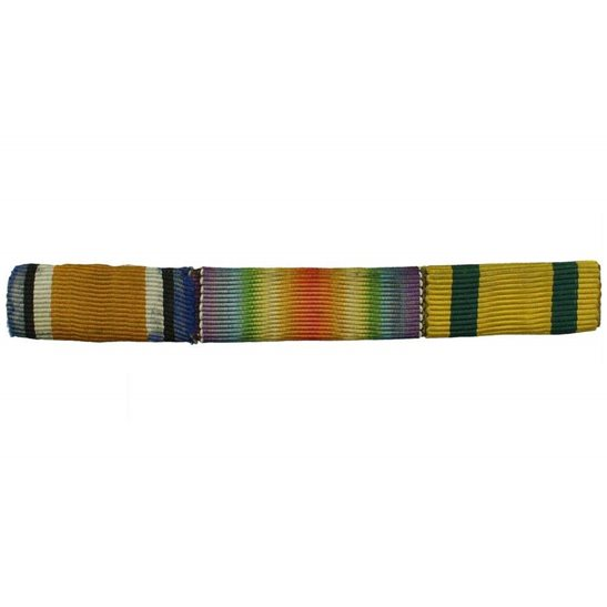 WW1 Trio (British War, Victory & Territorial Force Medal) Ribbon Bar - PIN BACK