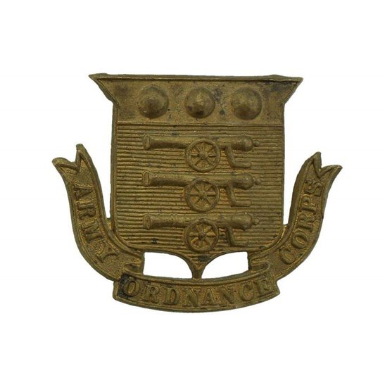 Army Ordnance Corps EDWARDIAN Army Ordnance Corps AOC Cap Badge - LUGGED VERSION
