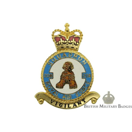 RAF Squadrons 208 Squadron Royal Air Force PLAQUE Badge RAF